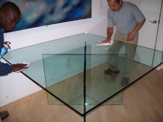 Beautiful Custom All Glass Table