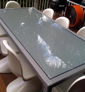 Tempered Glass Patio Table Top