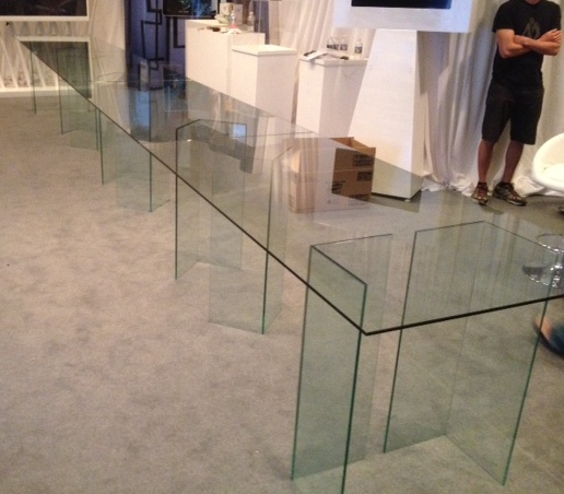Gentil 24 Foot Long Glass Table