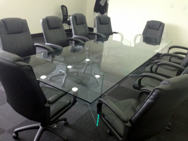 Glass Table Tops Tables And Furniture - Glass top conference room table