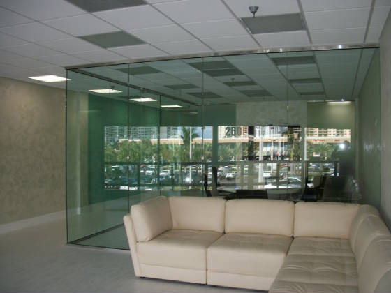 Tempered glass office partition 5
